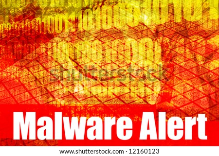 Malware Alert System Message Abstract Technology Background