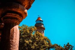 Mamallapuram Light House is UNESCO World Heritage Site located at Great South Indian architecture, Tamil Nadu, Mamallapuram or Mahabalipuram