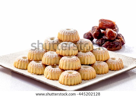 Mamoul with dates - arabic sweets specific in Ayd Al Fithr . The anniversary at the and of Ramadan. Youcan find them in Middle East . 30-07-2016 Amman Jordan