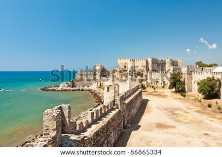 Mamure Kalesi (Castle) In Anamur, Turkey Stock Photo ...