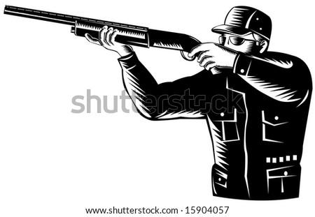 Man Aiming A Shotgun Stock Photo 15904057 : Shutterstock