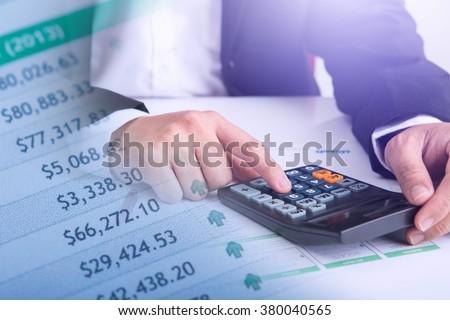 Man Analysis Business Accounting Foto stock ©