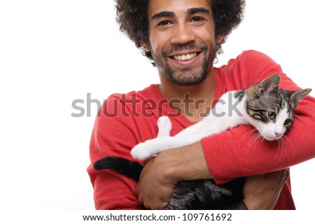 Man and a cat