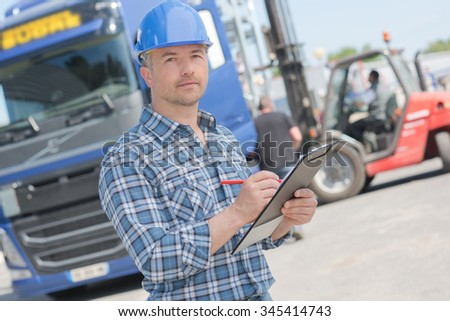 man and lorry
