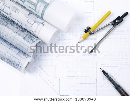 man and open book with building construction on white use  for multipurpose about construction and architecture