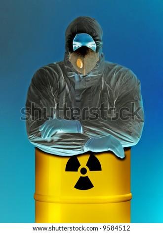 man and radioactive material