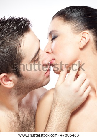 Man and woman are drawn to each other that would kiss