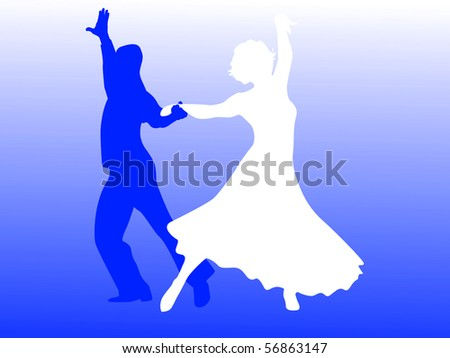 Man and woman dancing in black and white