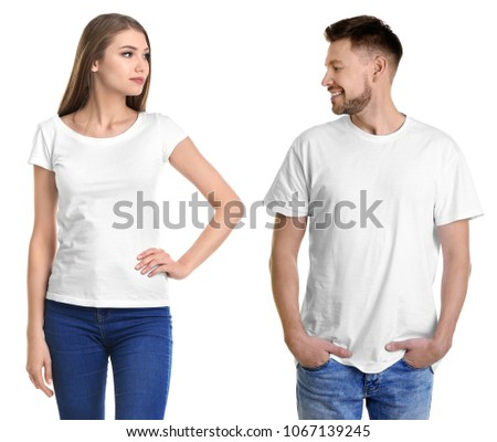 man and woman in stylish t...