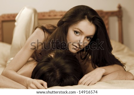 Man And Woman In The Bedroom Stock Photo 14916574 ...