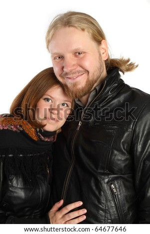 Man and woman in winter jackets