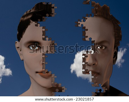 Man and woman mesh