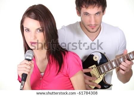 Man and woman musician
