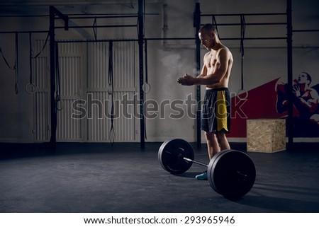 Man training Cross Fit