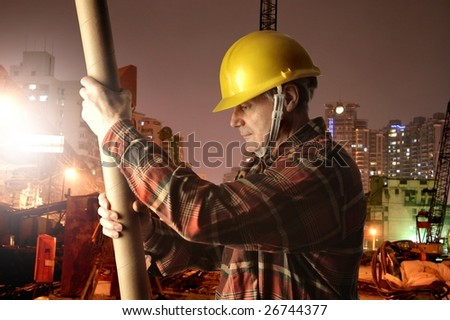 man at work in a yard