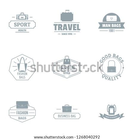 Man bag logo set. Simple set of 9 man bag logo for web isolated on 566dba6982