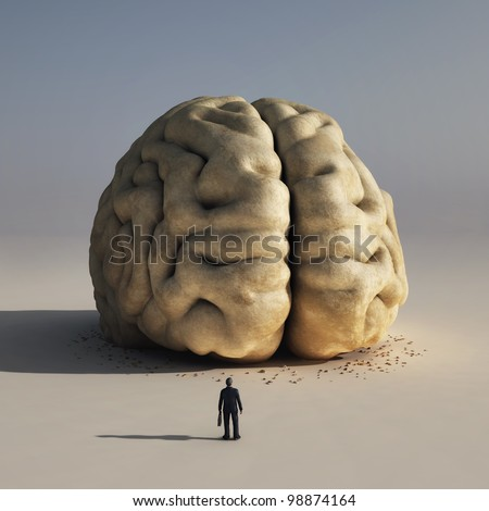 man before big brain