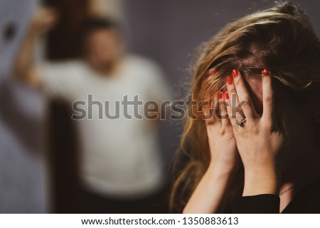 Man Being Physically Abusive Towards Family, Sexual abuse , Stop violence, Women #1350883613
