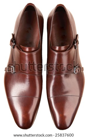 man business shoes isolated