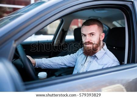 Royalty Free Beard Men Hipster Car Parking Airport 459395383