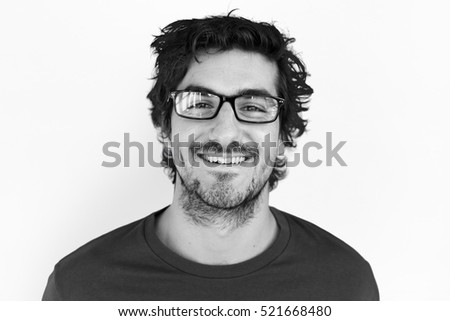 Man Cheerful Smiling Portrait Concept #521668480