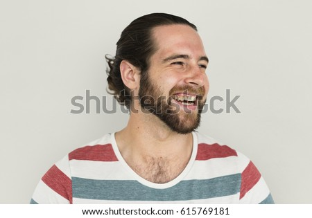 Man Cheerful Studio Portrait Concept