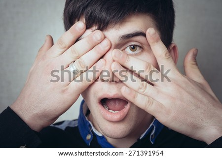 man closed one eye but second hand spies