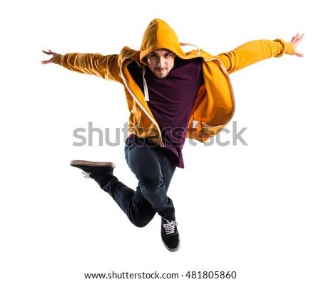 Man dancing street dance #481805860
