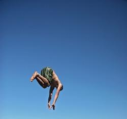 Man diving