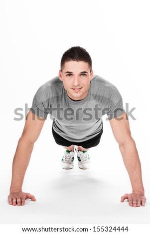 Man doing fitness exercise