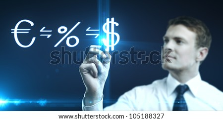 man drawing concept of making money