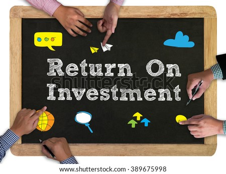 Man drawing ROI concept (return on investment)