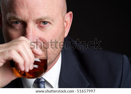 Man Drinking - stock photo