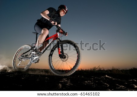 man extreme biking