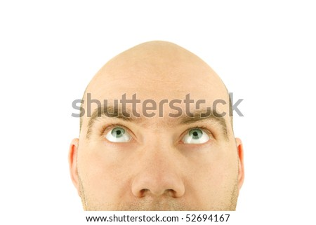 man face close-up isolated background