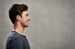Man face profile