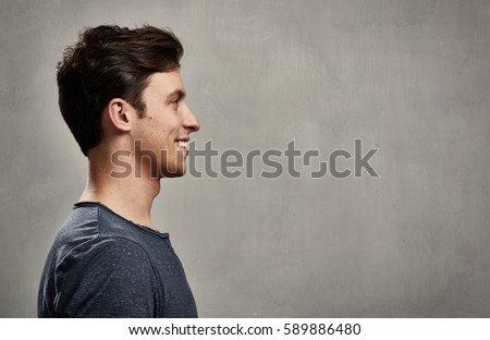 Man face profile