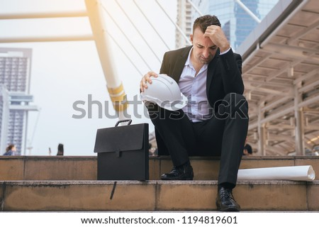 Man feeling so stressed and tired frustrated failure exhausted covering face,Unemployed concept