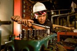 Man Fixing Boat Shipyard Dockyard