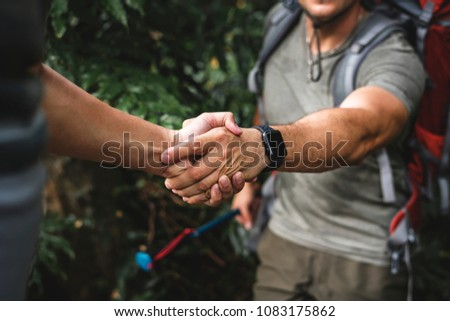 Man giving a helping hand