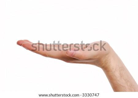 Man hand holding something ... .