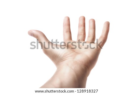 Man Hand Symbol  isolated on white background