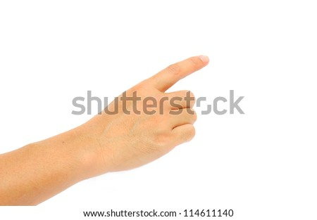 Man Hand Symbol with isolated white background