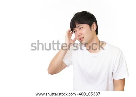 Man having a headache #400105387
