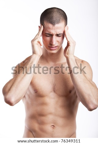 Man having a headache