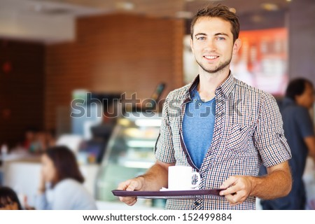 man having lunch