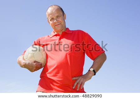 Man holding football