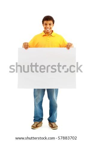 man holding paper