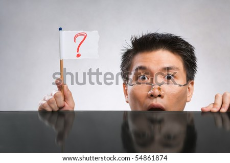 question mark face. find a dilemma stockpicture of mans face Man+with+question+mark+face