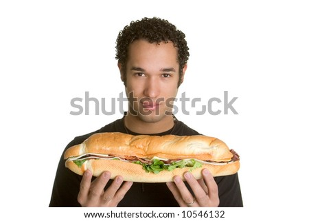 Man Holding Sandwich